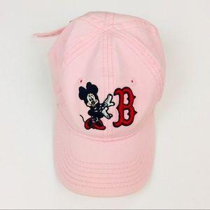 Disney Minnie Toddler Red Sox Baseball Cap Pink